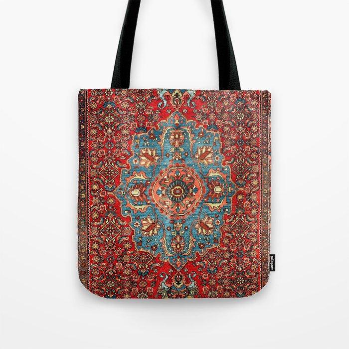 Bidjar Antique Kurdish Northwest Persian Rug Print Tote Bag