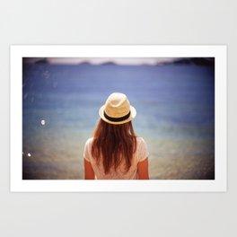 Summer Hat Art Print