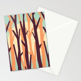 trees against the light Stationery Cards