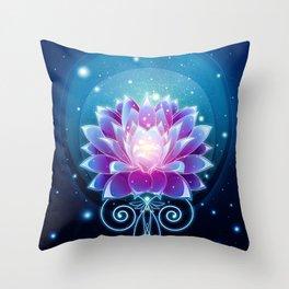 Dreamy Lotus Throw Pillow