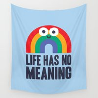 anxiety Wall Tapestries featuring Chaos Rains by David Olenick