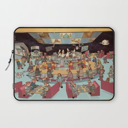 Red Pandas In Space Getting Burgers and Shakes Laptop Sleeve