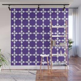 Droplets Pattern - Purple Wall Mural