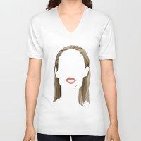 iggy V-neck T-shirts featuring Iggy by Bethany Mallick