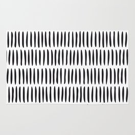 Classy Handpainted Stripes Pattern, Scandinavian Design Rug