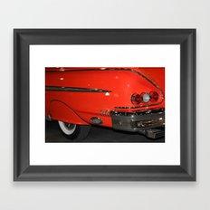 1958 Orange Chevrolet Impala  Framed Art Print