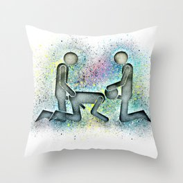 Cum In Either End Throw Pillow