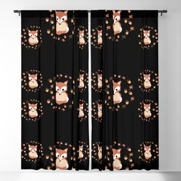 foxes in autumn. Pattern. Blackout Curtain