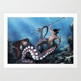 Marine Combat Art Print