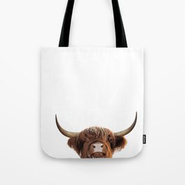 Highland cow, brown cow Tote Bag