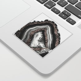 Agate Rose Gold Glitter Glam #4 #gem #decor #art #society6 Sticker
