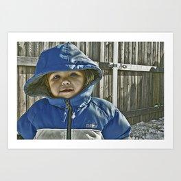 Baby blue Art Print