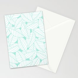 Leaves in Ocean Stationery Cards