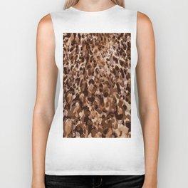 leopard in natural layers Biker Tank