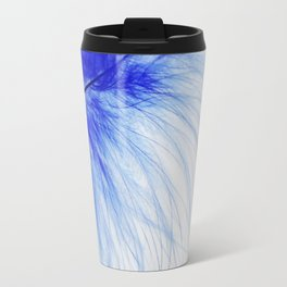 Blue feather Travel Mug