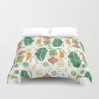 vegetables Duvet Covers featuring Garden Vegetables by Yardia