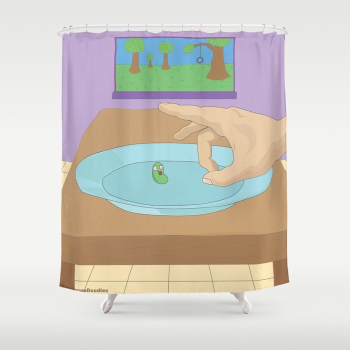 Flick The Bean Shower Curtain