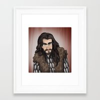 thorin Framed Art Prints featuring Thorin by quietsnooze