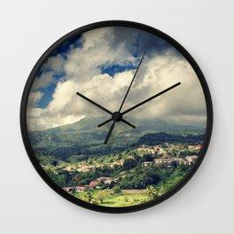 Mt. Pelee, Martinique Wall Clock