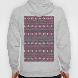 Abstract pink red green hand painted geometrical tribal pattern Hoody