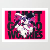 lebron Art Prints featuring LEBRON 2 TIME CHAMPION by mergedvisible