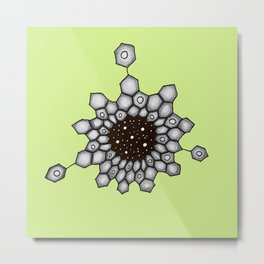 Organic Chemistry Aromatic Structure Space Stars Metal Print