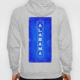 Birmingham - Alabama Theatre Marquee Blueprints Hoody