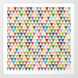 Colorul Triangles Art Print