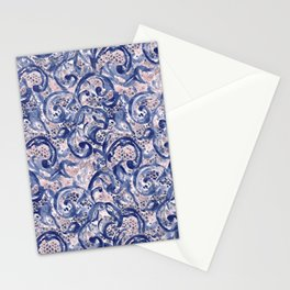 Vinage Lace Watercolor Blue Blush Stationery Cards