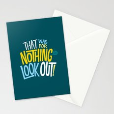 That was for nothing, so look out! Stationery Cards