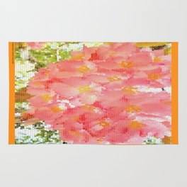 Mexico Blossom Pink & Yellow Flower Rug