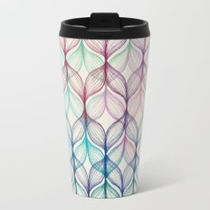 Mermaid's Braids - a colored pencil pattern Travel Mug
