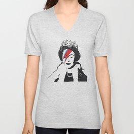 Queen Elizabeth As Ziggy, Banksy, Streetart Street Art, Stardust Grafitti, Artwork, Design For Men, Unisex V-Neck