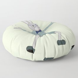 Joggling bunny Floor Pillow