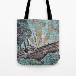 the boat wall Tote Bag