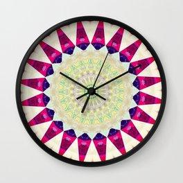 Retro Burlap Mandala Design Wall Clock