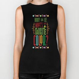 Buddy the Elf, What's Your Favorite Color? Biker Tank