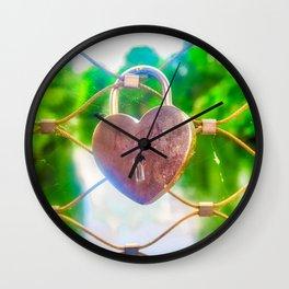 Love Lock Wall Clock