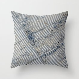 Warehouse District -- Rustic Farm Chic Abstract Throw Pillow