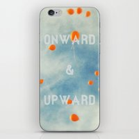 onward iPhone & iPod Skins featuring Onward & Upward by SilverSatellite