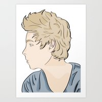luke hemmings Art Prints featuring Luke - watercolor by Feds