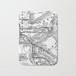 Vintage Map - New York Brooklyn–Manhattan Transit Corporation Route Map (1931) Bath Mat
