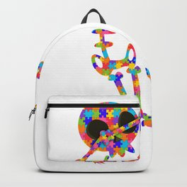 Dabbing Skeleton For Autism Backpack