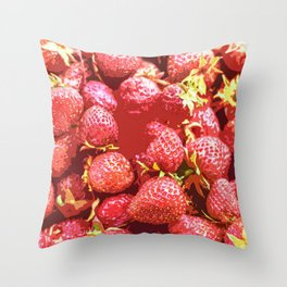 Lots of Strawberries Throw Pillow
