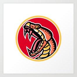 Copperhead Snake Mascot Art Print