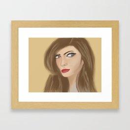 The Sexy Secretary Framed Art Print