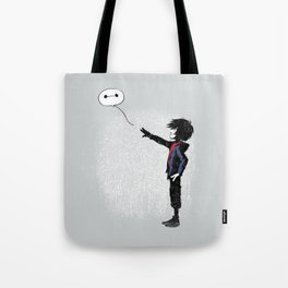 Boy with Robot Tote Bag