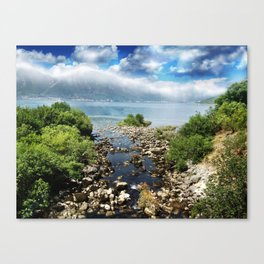 On the way to Kotor.. Canvas Print