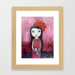 Mermaid Friend Framed Art Print