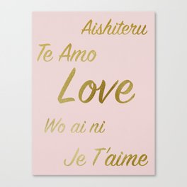Love in many languages Canvas Print